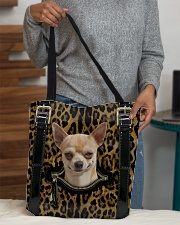Chihuahua - Leopard - Zip Pocket All-over Tote aos-all-over-tote-lifestyle-front-10
