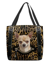 Chihuahua - Leopard - Zip Pocket All-over Tote back
