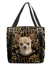 Chihuahua - Leopard - Zip Pocket All-over Tote front