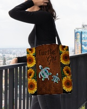 Turtle Girl  All-over Tote aos-all-over-tote-lifestyle-front-05