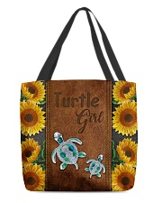 Turtle Girl  All-over Tote back