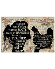 Chicken You Are My Happiness 17x11 Poster front