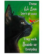 Black Cat And Butterfly 11x17 Poster thumbnail