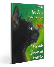Black Cat And Butterfly 20x30 Gallery Wrapped Canvas Prints front