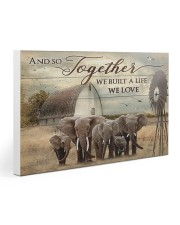 Elephant And So Together 30x20 Gallery Wrapped Canvas Prints thumbnail