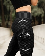 Racing Flag Dark Pattern Legging High Waist Leggings aos-high-waist-leggings-lifestyle-11