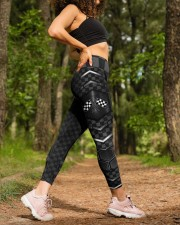 Racing Flag Dark Pattern Legging High Waist Leggings aos-high-waist-leggings-lifestyle-20