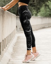 Racing Flag Dark Pattern Legging High Waist Leggings aos-high-waist-leggings-lifestyle-23