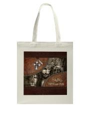Jesus Faith Over Fear Tote Bag tile