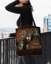 Jesus Faith Over Fear All-over Tote aos-all-over-tote-lifestyle-front-05