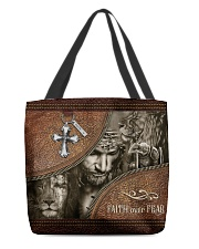 Jesus Faith Over Fear All-over Tote back