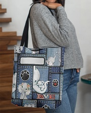 Elephant Jean Pattern All - Over Tote All-over Tote aos-all-over-tote-lifestyle-front-09
