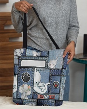 Elephant Jean Pattern All - Over Tote All-over Tote aos-all-over-tote-lifestyle-front-10
