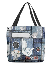 Elephant Jean Pattern All - Over Tote All-over Tote back