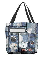 Elephant Jean Pattern All - Over Tote All-over Tote front