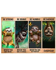 Sloth Be Strong 17x11 Poster front
