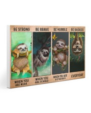 Sloth Be Strong 30x20 Gallery Wrapped Canvas Prints thumbnail