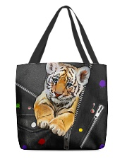 Tiger - Zip - All - Tote  All-over Tote back