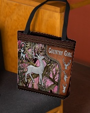 Hunting Deer Country Girl Leather Pattern Print All-over Tote aos-all-over-tote-lifestyle-front-02