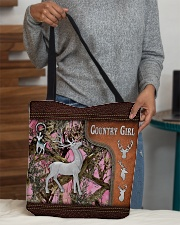 Hunting Deer Country Girl Leather Pattern Print All-over Tote aos-all-over-tote-lifestyle-front-10