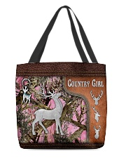 Hunting Deer Country Girl Leather Pattern Print All-over Tote back