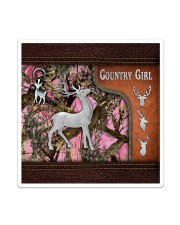 Hunting Deer Country Girl Leather Pattern Print Sticker - Single (Vertical) thumbnail