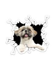 Shih Tzu Crack  Sticker - Single (Vertical) front