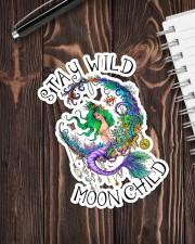 Mermaid - Stay Wild Moon Child Sticker Sticker - Single (Vertical) aos-sticker-single-vertical-lifestyle-front-05