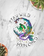 Mermaid - Stay Wild Moon Child Sticker Sticker - Single (Vertical) aos-sticker-single-vertical-lifestyle-front-06