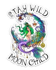 Mermaid - Stay Wild Moon Child Sticker Sticker - Single (Vertical) front
