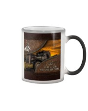 A Girl Who Loves Her Trucker Color Changing Mug thumbnail