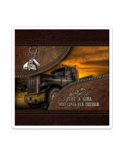 A Girl Who Loves Her Trucker Sticker - Single (Vertical) thumbnail