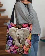Elephant Wool Rolls All-over Tote aos-all-over-tote-lifestyle-front-09