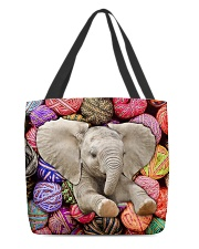 Elephant Wool Rolls All-over Tote front