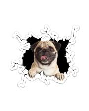 Pug Crack Sticker - Single (Vertical) front
