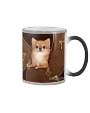 Chihuahua Long Hair  Color Changing Mug tile