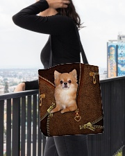 Chihuahua Long Hair  All-over Tote aos-all-over-tote-lifestyle-front-05