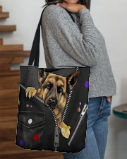 German Shepherd - Zip - All - Tote  All-over Tote aos-all-over-tote-lifestyle-front-09
