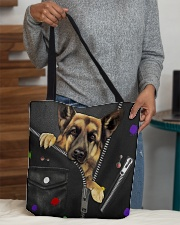 German Shepherd - Zip - All - Tote  All-over Tote aos-all-over-tote-lifestyle-front-10