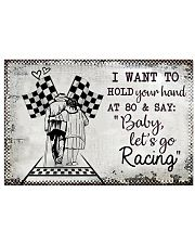 Baby Let's Go Racing 17x11 Poster front
