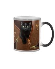 Black Cat  Color Changing Mug tile