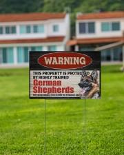 Warning German Shepherd Yard Sign 18x12 Yard Sign aos-yard-sign-18x12-lifestyle-front-03