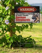 Warning German Shepherd Yard Sign 18x12 Yard Sign aos-yard-sign-18x12-lifestyle-front-14