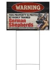 Warning German Shepherd Yard Sign 18x12 Yard Sign back