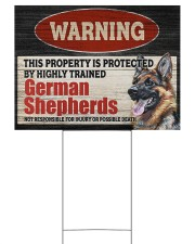 Warning German Shepherd Yard Sign Yard Signs tile