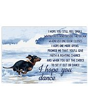 Dachshund - I Hope You Dance 17x11 Poster front