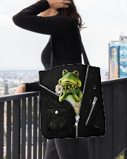 Frog Black  All-over Tote aos-all-over-tote-lifestyle-front-05