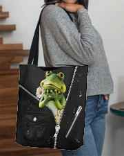 Frog Black  All-over Tote aos-all-over-tote-lifestyle-front-09