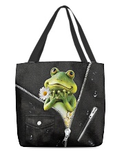 Frog Black  All-over Tote front