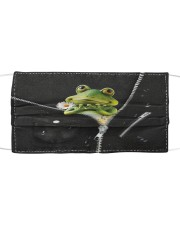 Frog Black  Cloth face mask thumbnail